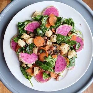 Vitaliska recette salade diet radis pastèque végétarien
